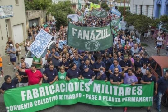 Declararon la emergencia laboral en Azul por el cierre de Fabricaciones Militares