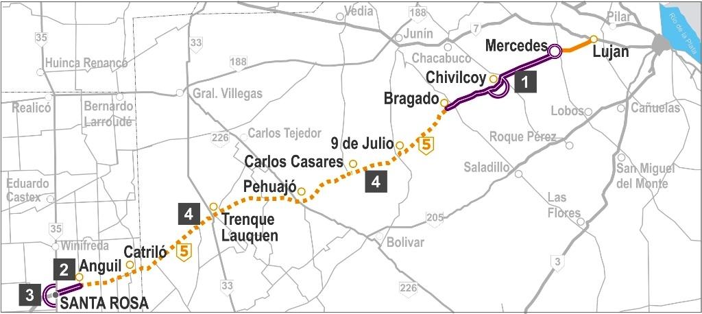 Resultado de imagen para autopista Luján con Santa Rosa (La Pampa)