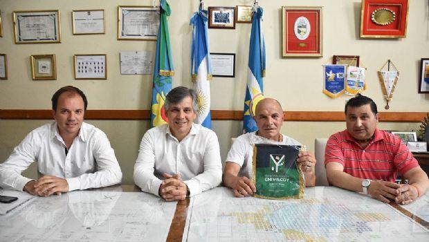 El intendente recibió a Eduardo Díaz