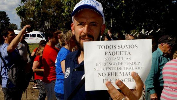"""Bajo el lema """"Todos somos Paquetá"""" gremios y trabajadores marcharon en la ruta 5"""