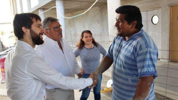 Gatica recibió al senador Leandro Blanco y juntos recorrieron obras