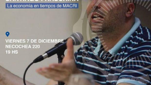 Disertará el economista Santiago Fraschina
