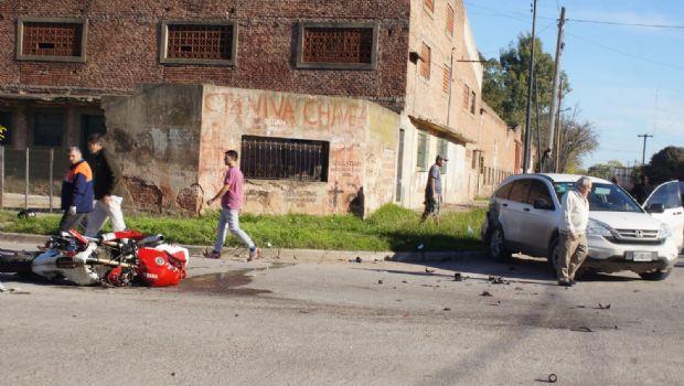Trágico choque en la avenida Güemes