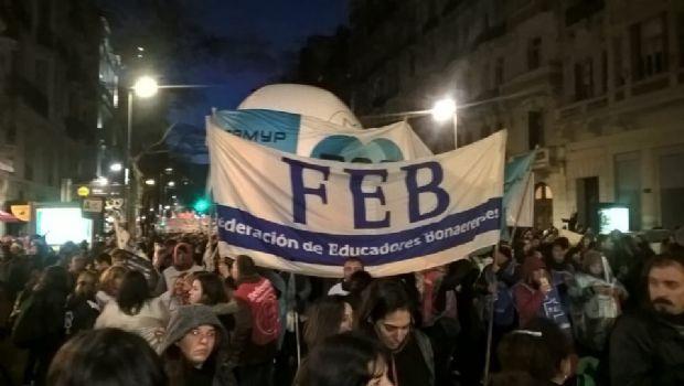 El congreso de la FEB voto la continuidad del plan de lucha de los docentes