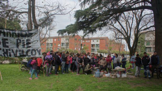Olla popular de Barrios de Pie en demanda de la ley de emergencia alimentaria