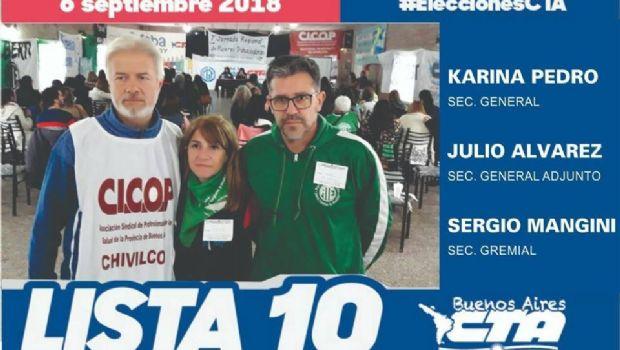 Lista chivilcoyana en las elecciones nacionales de la CTA