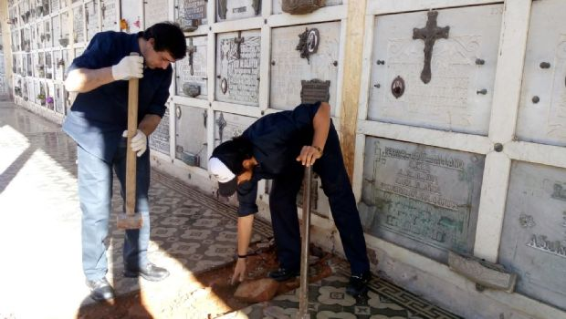 """Beneficiarios de """"Capacitación laboral"""" comenzaron a trabajar en el Cementerio"""