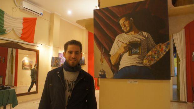 """Habilitaron una muestra de pinturas de Luca Cabral en el salón de la Sociedad """"Italia"""""""