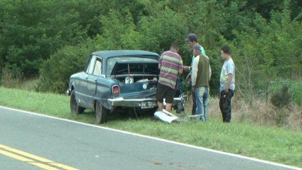Chocaron dos autos que circulaban en la  misma dirección en la Ruta Nacional N° 5