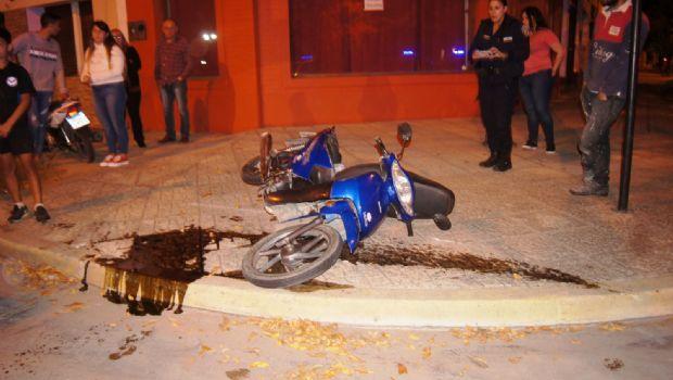 Grave accidente en la esquina de Deán Funes y Alem