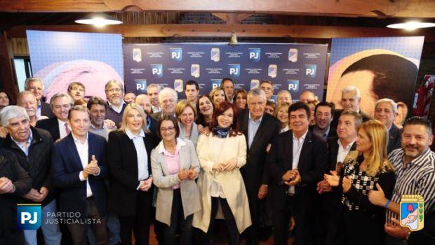 """En la reunión con el PJ, CFK confirmó la conformación del """"Frente Patriótico"""""""